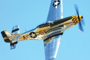 Tony Banta pilots Kimberly Kaye, a 1944 North American P-51 D-30NT Mustang.