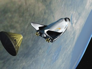 The Dream Chaser is designed to use internal hybrid rocket motors and to launch vertically from a simple launch pad at any commercial spaceport.