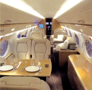 Mountain Aviation's Gulfstream G400 can carry up to 13 passengers and even includes sleeping berths.