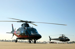 South Bay Helicopter's sleek Agusta (left) and Eurocopter Astar (right) make for a dynamic duo.
