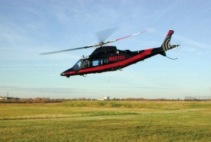 South Bay Helicopter's most luxurious aircraft is its sleek Agusta 109 Power, a quiet, powerful helicopter capable of flying nearly 200 mph.