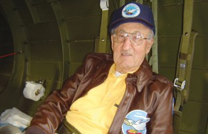 "Ike Alhadeff, strapped in his seat for a short ride in the skies above Seattle, said, ""It's kind of fun being up in a B-17 again, but it's not like it used to be."""