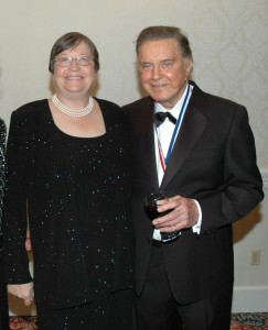 My wife Laurie conveyed our congratulations to our dear friend Cliff Robertson on his enshrinement.