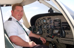 Robby Hodges, a graduate of the college's maintenance and flight programs, is now a flight instructor for the University of North Dakota, which provides the flight training portion of CGCC's flight curriculum.