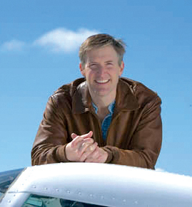Erik Lindbergh, honorary chairm of the Spreading Wings Barnstorming Tour, retraced his grandfather's solo flight from New York to Paris in a Lancair on its 75th anniversary. Overcoming rheumatoid arthritis to do so, Erik represents is a great role model.