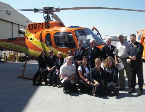 There were big smiles on the crew from Colorado Springs in front of their Eurocopter AStar 350.