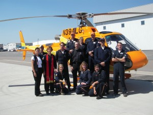The crew from Pueblo in front of their helicopter.