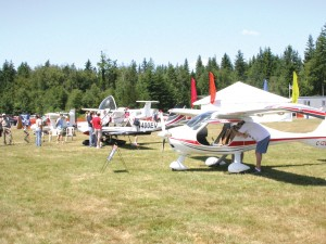 This year's NWEAA Fly-In at Arlington included the show's first Sport Plane Mall, offering visitors a chance to compare a variety of the new planes entering the market for the sport-pilot license category.