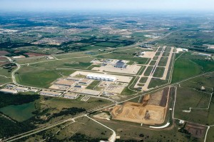 Fort Worth Alliance Airport offers direct taxiway access to nearby corporate residents in Alliance Center.
