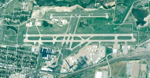 Fort Worth Meacham International Airport, at an elevation of 710 feet and with three runways, is located minutes from downtown Fort Worth and the historic Fort Worth stockyards.
