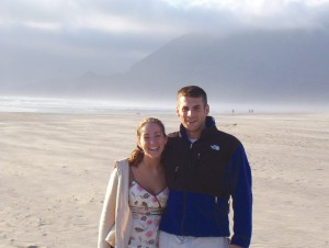 Joshua and Shannon Dierks, shown on the Oregon Coast, met at Western Washington University and recently purchased a house in Kent, Wash.