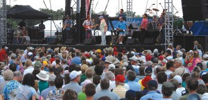 Aeroshell Square drew a large crowd on Monday night for the Beach Boys concert.