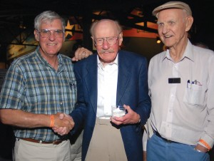 Dick Rutan, Bob Hoover and Rutan's dad, George Rutan, were among those who attended the premier of Tony Bill's new film.