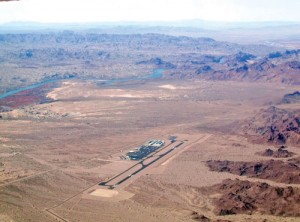 Lake Havasu City Airport lies in barren country just east of the Colorado River.