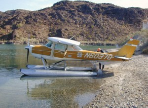 For training, we flew an aging Cessna 150, upgraded to 150-hp and mounted on floats.