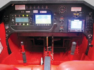IndUS Aviation is able to outfit their retro aircraft with modern accessories like this Garmin 530 avionics suite.