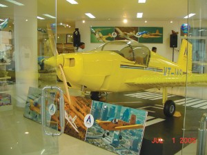 In the busy streets of downtown Bangalore, Indian aviation enthusiasts are able to check out a fully functional Thorpedo in IndUS Aviation's pilot store and flight school.