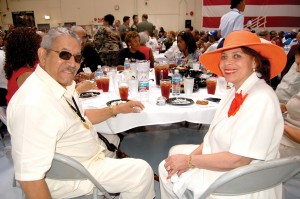 L to R: Tuskegee Airman Dr. Charles A. Hill Jr. attended the luncheon at Luke AFB with his wife Gwendolyn Williams.