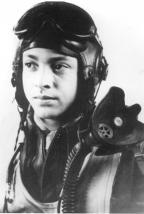 This photo of George Hardy was taken in 1944 during pilot training at Tuskegee Army Air Field, Alabama.