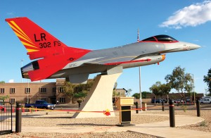 On August 2, a red-tailed F-16 display monument and park were officially dedicated at Luke AFB, in honor of the Tuskegee Airmen. The project was commissioned by the 944th Fighter Wing, an Air Force Reserve Unit based at Luke.