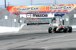 Champ Car stepped in quickly to replace signage that was to show Centrix Financial's involvement in the race.