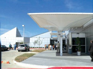 The new passenger apron at Dallas Executive Airport allows busy executives to get in and out of the facility quickly.