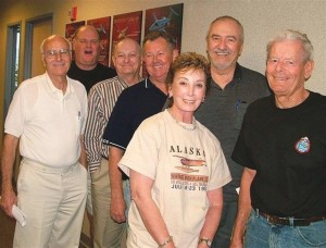 Some of the 2006 Airventurers Flying Club board members, L to R: Gunter Seibold, Evan Binn, Ken Coolidge, Brian Dixon, Judy Rifkin, Mike Stambolis and President Don Eisenberg.