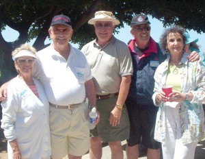L to R: Paula and Roy Harrow drove to the picnic, while Arnie Nelson showed up in a Cessna 340A, and Ira and Judy Gottfried arrived in an A36 Bonanza.
