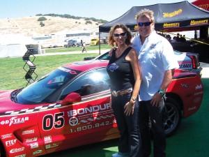 Princess Pamela and Craig Jackson enjoy the Monterey Historic Automobile Races held at the Laguna Seca Raceway, California, during the 2006 Pebble Beach Concours d'Elegance.