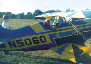 A three-time mayor of his town, Bill Fritsche Sr., shown in a Pitts Special built by two of his friends, established Alexandria Field as a benefit to the whole community.