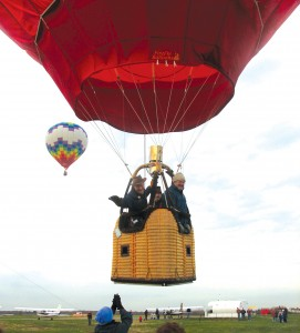 "A basic AX-7 balloon system costs about $30,000, but related equipment (the ""chase vehicle,"" radio systems, ropes, rack, etc) adds to the cost. When all is said and done, the Youngs show up for a balloon flight with about $100,000 of equipment."