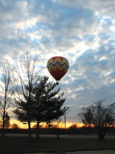 As with all hot air balloonists, the Youngs usually fly at sunrise or before sunset, when the winds are most stratified and gentle. Balloonists seek to fly when winds at the ground surface are about three to seven miles per hour.