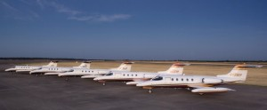The sparkling fleet of Lear 25s at Best Jets' headquarters at Grayson County Airport waits for new owners who appreciate a finely refinished aircraft.