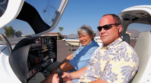 Judy and Gary Lewin, of the family-owned Southwest Flight Center, offer students a modern flight training experience in their new Diamond Star.