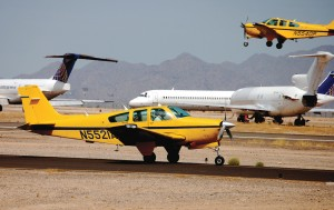 Airline Training Center Arizona uses the Beechcraft Bonanza F33A to train Lufthansa students.