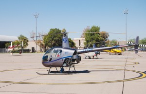 Silver State Helicopters, at Williams Gateway Airport, primarily uses the Robinson R22 and R44 in its pilot training program.