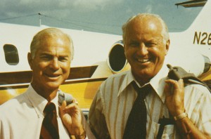 The late Charles C. Gates (left) and Harry B. Combs were business partners on several ventures. The two pioneering business aviation legends have been uniquely reunited through the Combs Gates Award.