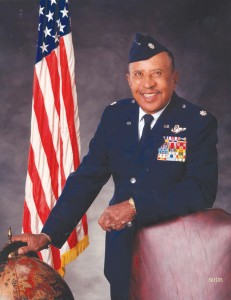 Lt. Col. James Warren poses in a studio in Sacramento, Calif., for the cover story of Senior Magazine, in November 2000.