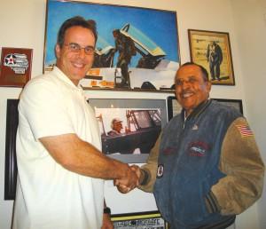 Robert DalColletto visits Lt. Col. James Warren in his home in Vacaville, Calif., in August 2006.
