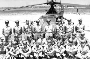 John Sanduski (standing, far right) was in the first graduating class of helicopter pilots at Freeman Field, Aug.11, 1944.