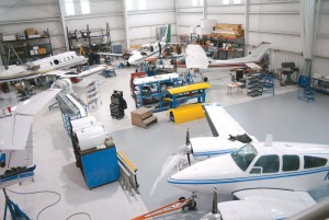 Straight Flight's 15,000-square-foot hangar has ample room to perform aircraft maintenance and structural repair.
