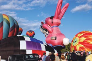 Take a closer look; is that a space alien behind the Energizer Bunny?