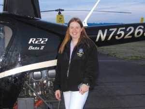 Lorena Knapp is a helicopter instructor and a captain in the PPLI program.