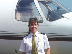Kathy Salm, a PPLI graduate, flies the Citation Ultra for the fractional jet company NetJets.