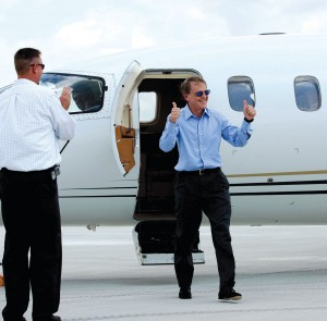 Ron Henriksen celebrated a birthday milestone August 6 by becoming the first pilot toland at his new Houston Executive Airport. Henriksen was joined by a crowd of 50 well-wishers including Houston Executive Airport Director Andrew Perry.