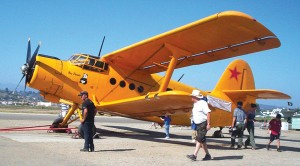 This large, single-engine Antonov AN-2, based at Cable Airport, offered plane rides.