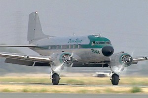 Dream Flight's DC-3 Rose, based at Corona Municipal Airport, is used for scenic flights and pilot training.