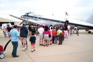 All day, people lined up to board Rose, on static display at Van Nuys Airport's AirFest 2006.