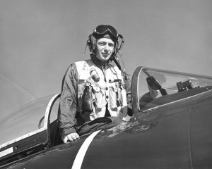 Ed Phillips flew the Douglas AD Skyraider in Attack Squadron 195 during the Korean War from the aircraft carrier USS Princeton.