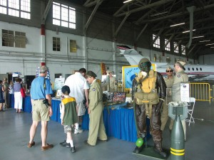 Representatives of aviation groups such as the Yankee Air Museum and the Army Air Force Historical Society, which displayed authentic gear from WWII, were on hand.